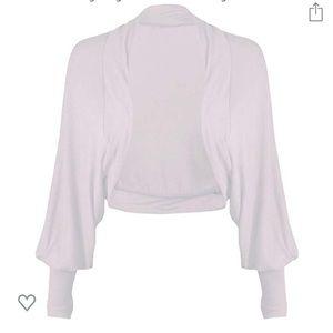 NWT White Long Sleeve Bolero Shrug Jacket